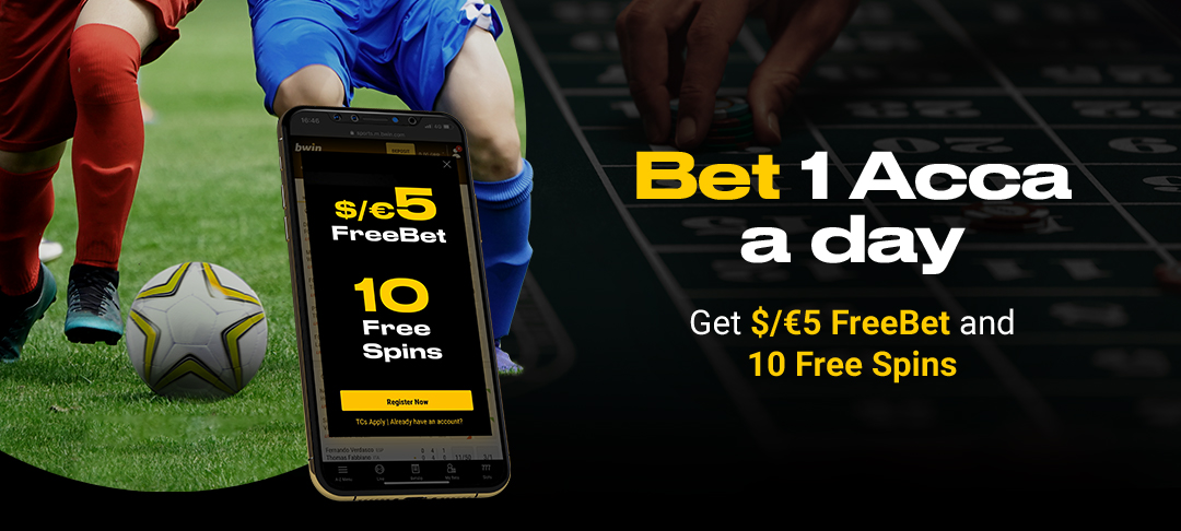 Grab a €/$5 FreeBet + 10 Free spins every day